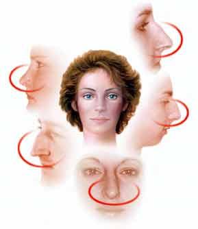 Profil der Nase wird vor der Nasenkorrektur begutachtet